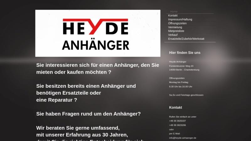www.heyde-anhaenger.de Vorschau, Heyde Anhänger