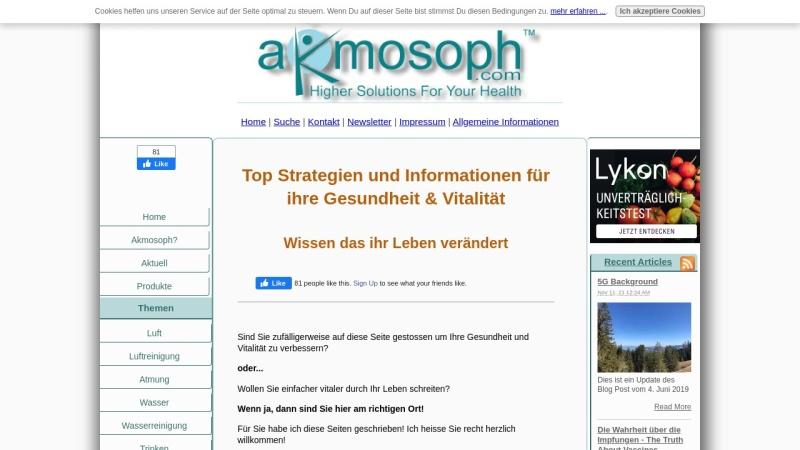 www.higher-solutions-for-your-health.com Vorschau, Akmosoph.com