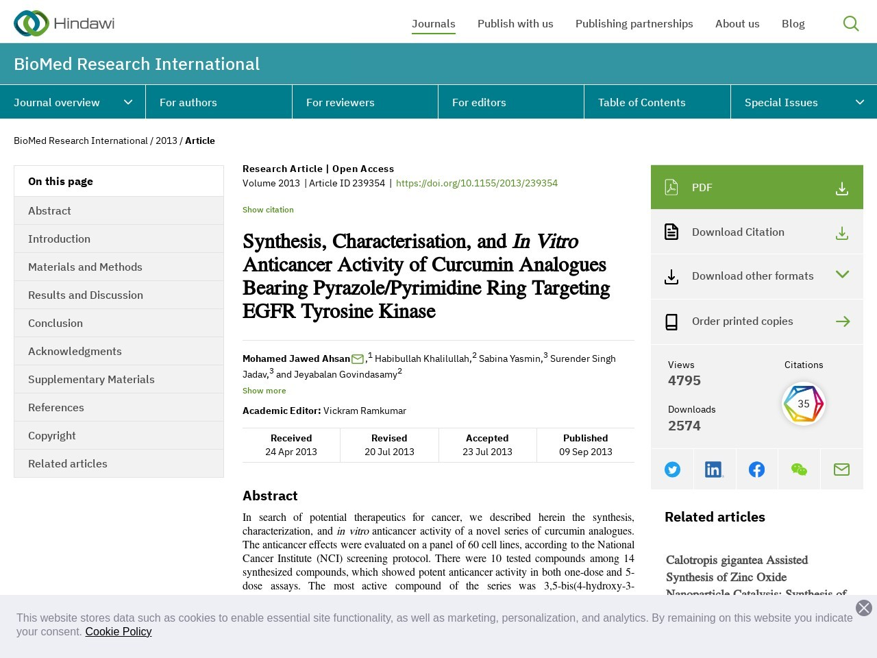Synthesis, Characterisation, and In Vitro Anticancer Activity …
