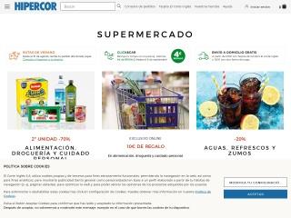Captura de pantalla para hipercor.es