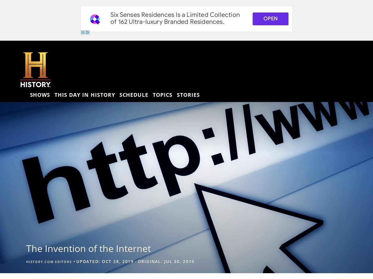 The Invention of the Internet – Inventions – HISTORY.com