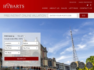 Screenshot for hobarts.co.uk