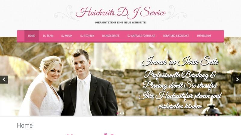www.hochzeits-dj-service.de Vorschau, Hochzeits-DJ Service