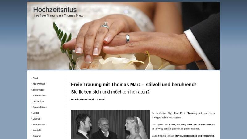 www.hochzeitsritus.de Vorschau, Hochzeitsritus Thomas Marz