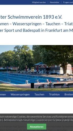 Vorschau der mobilen Webseite www.hoechster-schwimmverein.de, Höchster Schwimmverein 1893 e.V.