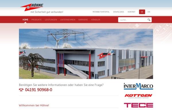 Vorschau von www.hoehne.de, Höhne GmbH