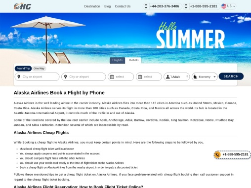 Alaska Airlines Manage Booking +1-888-595-2181