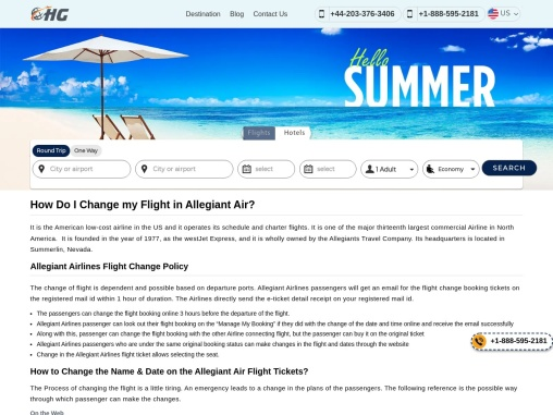 Allegiant Air Name Change Policy +1-888-595-2181