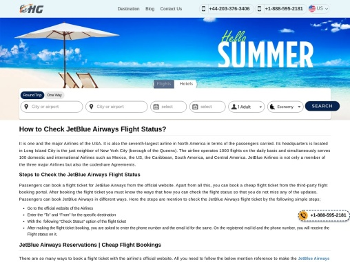 JetBlue Airways Manage Booking +1-888-595-2181