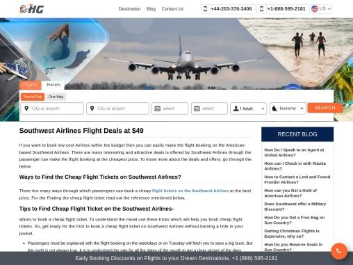 Southwest Airlines Flight Deals at $49