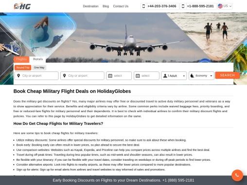 Cheap Military Travel Deals +1-888-595-2181