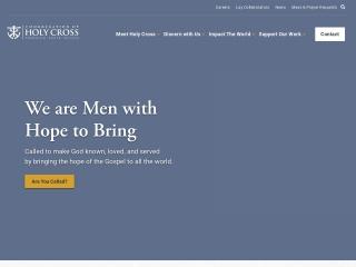 Screenshot for holycrossusa.org