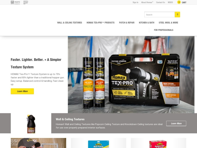 Homax Products screenshot