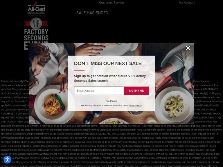Home & Cook Groupe Seb Brands: All-clad Krups Rowenta T-fal screenshot
