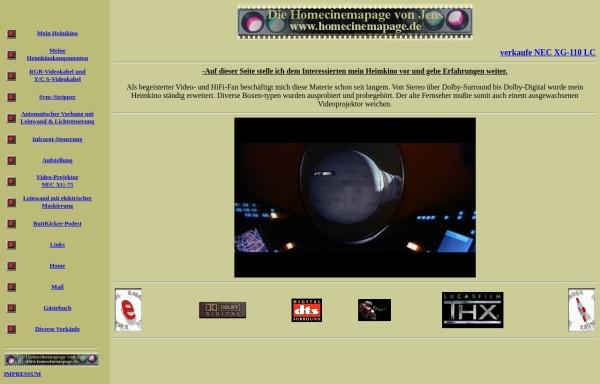 Vorschau von www.homecinemapage.de, Jens Redelfs