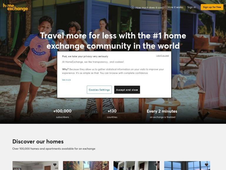 Home Exchange screenshot