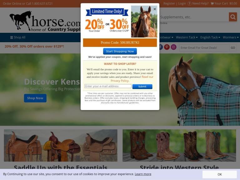 Horse.com screenshot