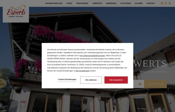 Vorschau von www.hotel-ewerts.de, Hotel-Restaurant Ewerts