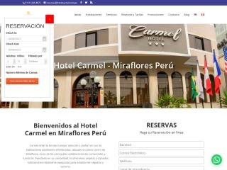 Captura de pantalla para hotelcarmel.com.pe