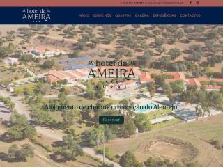 Screenshot do site hoteldaameira.pt