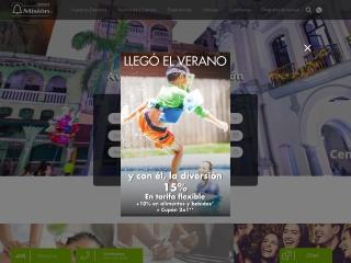 Captura de pantalla para hotelesmision.com.mx