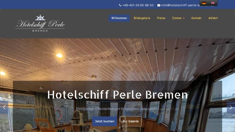 www.hotelschiff-perle-bremen.de Vorschau, Hotelschiff Perle Bremen