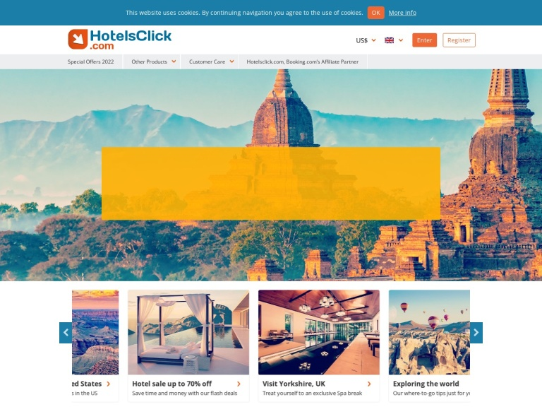 Hotels Click screenshot