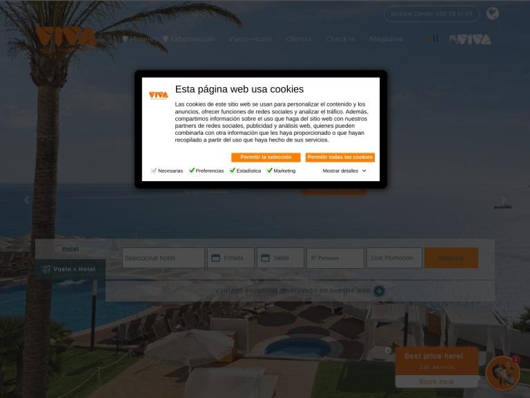 Hotelsviva.com screenshot