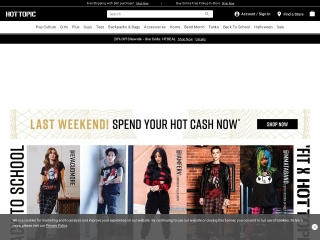 Capture d'écran pour hottopic.com
