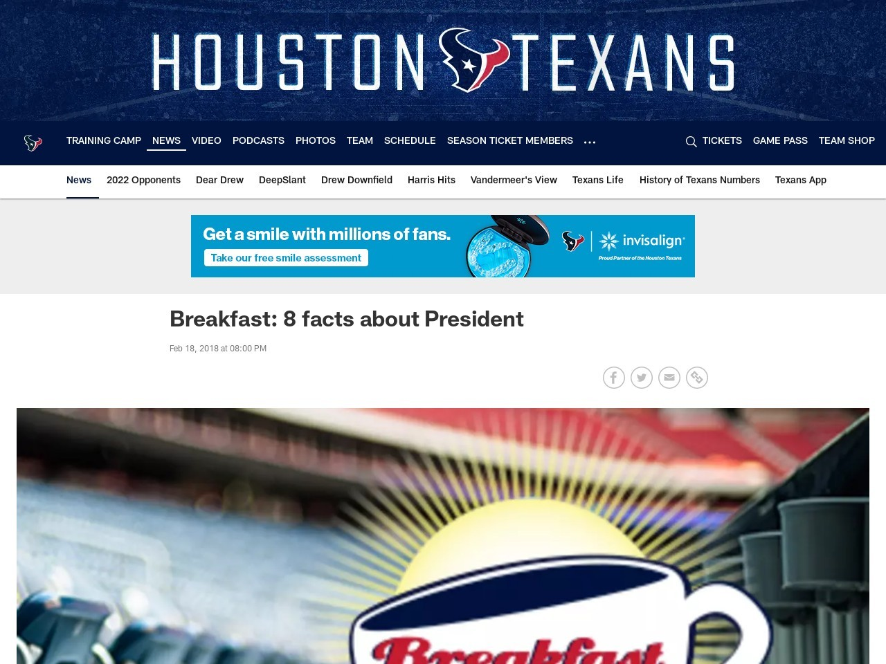 Breakfast: 8 facts about President