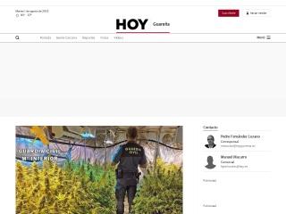 Captura de pantalla para hoyguarena.es