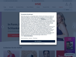 Screenshot der Website hse24.de