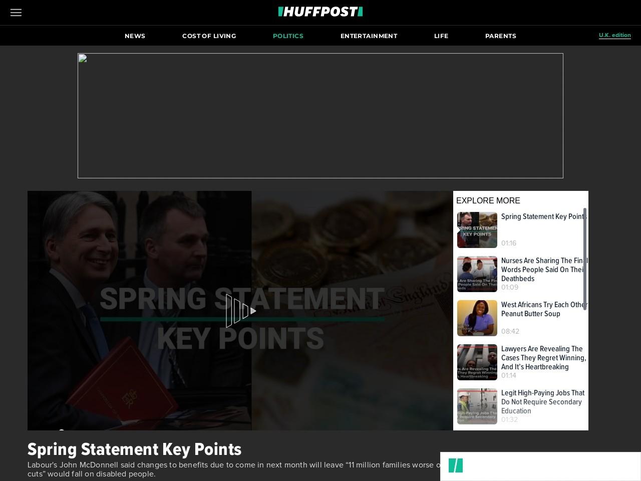 Spring Statement Key Points