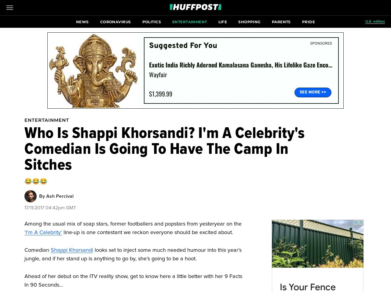Who Is Shappi Khorsandi? I'm A Celebrity's Comedian Is Going To Have The Camp In Sitches