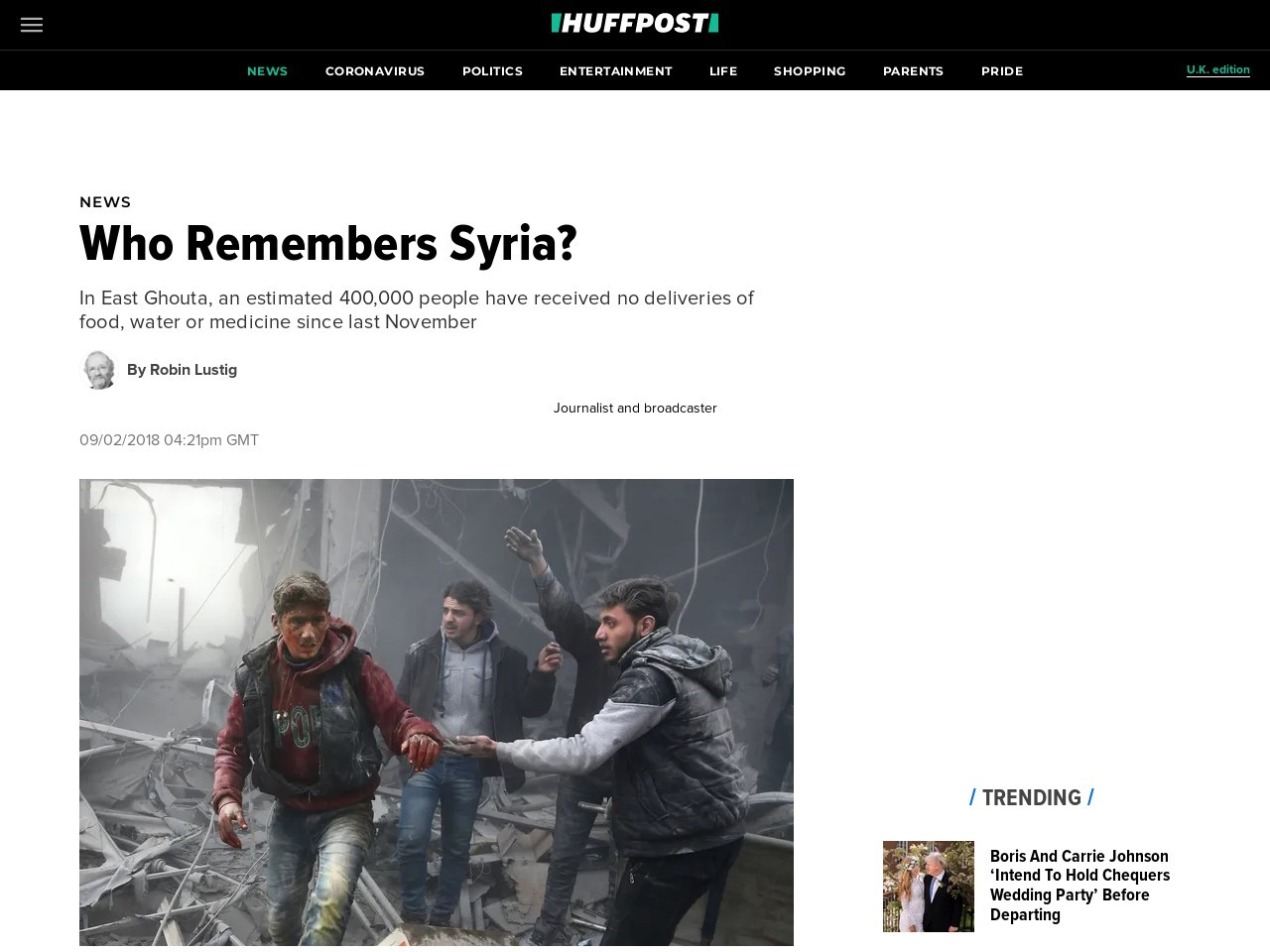 Who Remembers Syria?