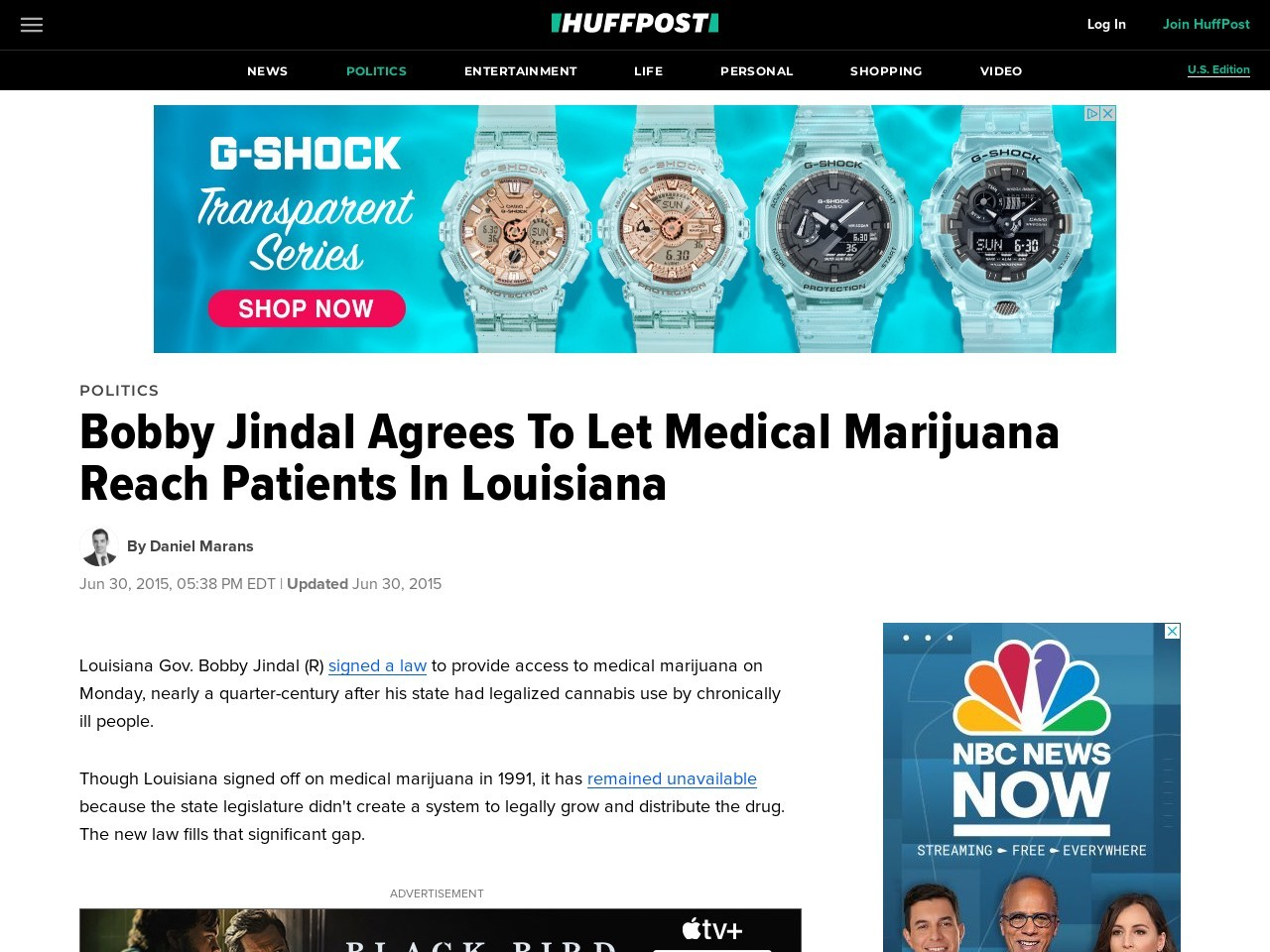 Bobby Jindal Agrees To Let Medical Marijuana Reach …