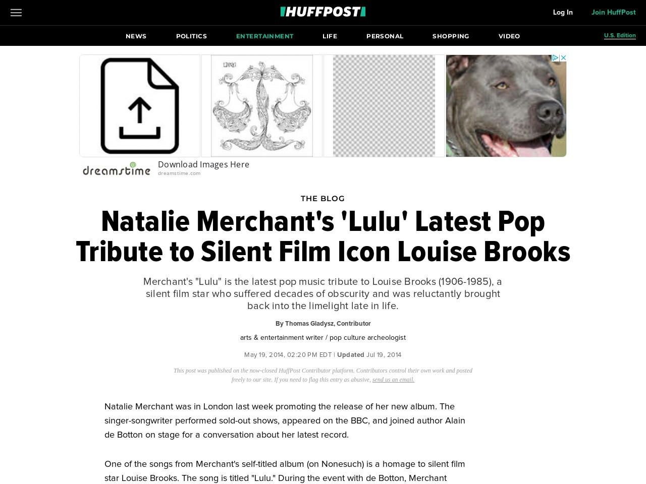 Natalie Merchant's 'Lulu' Latest Pop Tribute to Silent Film Icon Louise Brooks