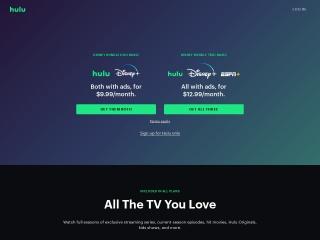 Vietnes hulu.com ekrānuzņēmums