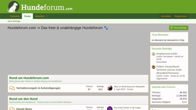 www.hundeforum.com Vorschau, Hundeforum.com