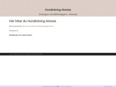 www.hundtraningalvesta.n.nu