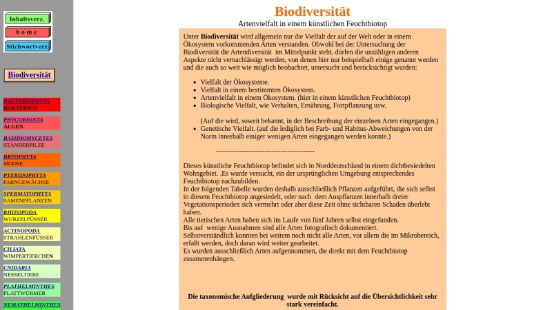 www.hydro-kosmos.de Vorschau, Artenvielfalt in einem künstlichen Feuchtbiotop