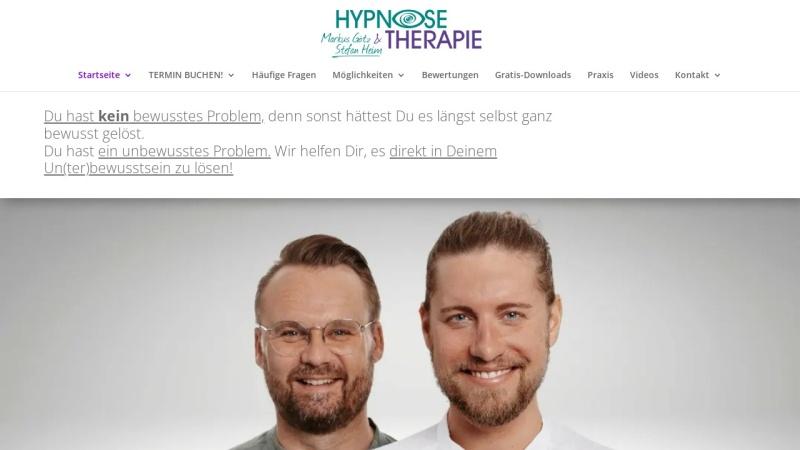 www.hypnose-praxis-landshut.de Vorschau, Hypnosepraxis Markus Götz & Stefan Heim
