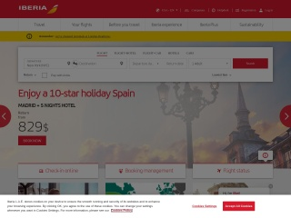 Screenshot bagi iberia.com