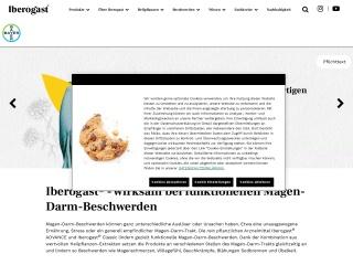 Screenshot der Website iberogast.de