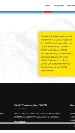 Vorschau der mobilen Webseite www.ibr-bonn.de, IbR Geoinformation