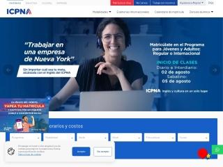 Captura de pantalla para icpna.edu.pe