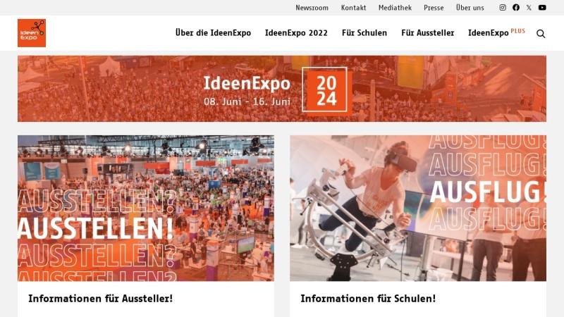 www.ideenexpo.de Vorschau, IdeenExpo Hannover - IdeenExpo GmbH