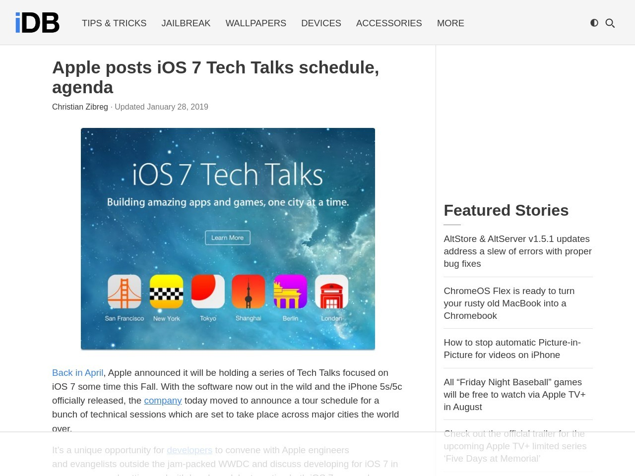 Apple posts iOS 7 Tech Talks schedule, agenda – iDownloadBlog