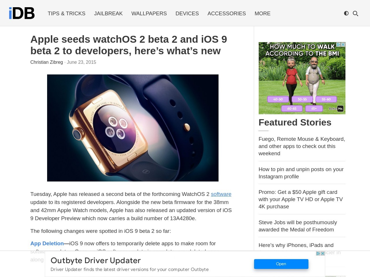 Apple seeds watchOS 2 beta 2 and iOS 9 beta 2 to developers