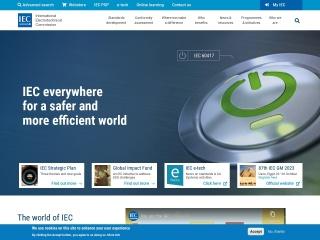 Screenshot der Website iec.ch